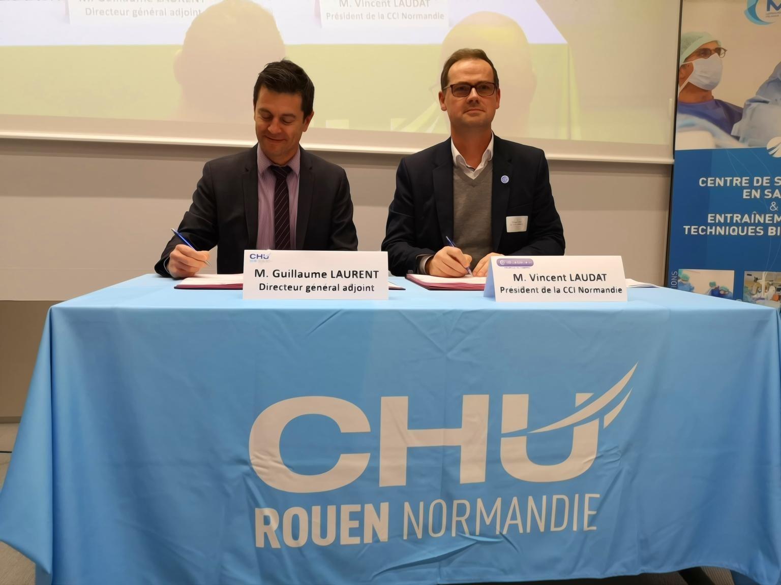 Le CHU Rouen rejoint l'ECOSYSTEM CLEON 4.0 – signature de la convention 16 Janvier