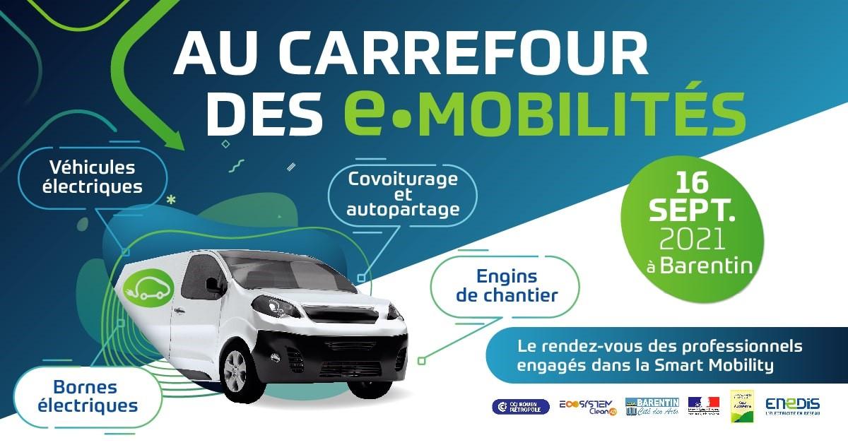 Carrefour des e-mobilités 16 SEPTEMBRE 2021 – 9H/17H – BARENTIN
